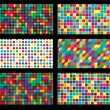 Colorful background geometric seamless repetitive vector graphic — Stock Vector #48930895