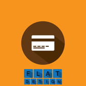 Flat design icon of credit card or debit card - vector graphic — Stock Vector