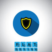 Flat design icon of safety & security - vector graphic — Stock Vector