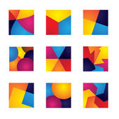 Colorful squares with divisions vector icons of design elements. — Stock Vector