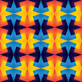 Geometric vibrant colorful seamless repetitive pattern - vector  — Stock Vector