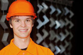 Smiling worker portrait — Stock Photo