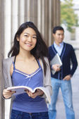 Happy university students — Stock Photo