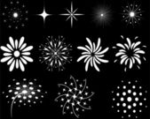 The elements of fireworks — Stock Vector