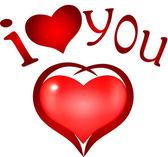 """I Love you'.  heart symbol — Stock Vector"