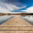 Pond Pontoon — Stock Photo