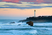 Biarritz Lighthouse in the Storm — Stock Photo