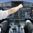Pilots in the plane cockpit — Stock Photo #49835161