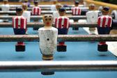 Foosball table soccer little men — Stock Photo