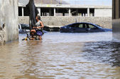 TENERIFE, SPAIN - AUGUST 29: Flooding due to high tide that floo — Stock Photo