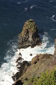 Lava rocks on the north coast of Tenerife — Stock Photo