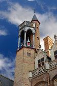 Dettaglio di una torre a bruges, belgio. — Foto Stock