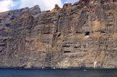 Impressionante falésia na ilha de tenerife. as falésias de los gigantes. — Fotografia Stock