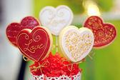 Herz formen süße kuchen — Stockfoto