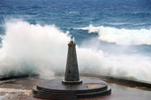 波涛汹涌的大海,与危险的波 — Stock fotografie