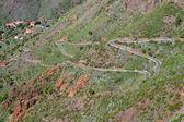 Winding mountain roads, Tenerife. Canary Islands — Zdjęcie stockowe