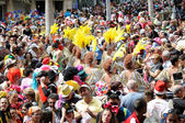 TENERIFE, March 8: Characters and Groups in The carnival. — Foto de Stock