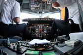 Airplane Instruments primary flight display — Stock Photo