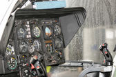 Instrumentation in rescue helicopter, cockpit BO-105 — Stock Photo