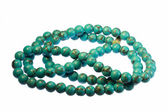 Beads from turquoise — Stock Photo