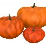 Three halloween pumpkins — Stock Photo #6742780