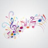 фоновая музыка — Cтоковый вектор