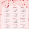 Calendar for 2013 — Vector de stock #13299939
