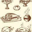 Royalty-Free Stock Vector Image: Vintage food