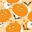 Yellow Halloween pattern — Stock Vector