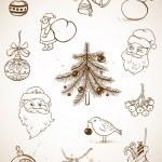 Doodle Christmas set — Stock Vector #15785323