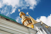 Golden dome of the Orthodox church — Stock Photo
