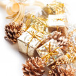 Royalty-Free Stock Photo: Golden Christmas decorations