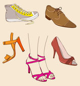 Shoes and legs — Stock Vector