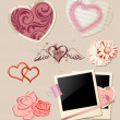 Valentine`s Day scrapbook — Stock Vector