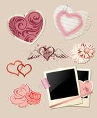 Valentine`s Day scrapbook — Stock Vector
