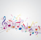 Music background with butterflies — Stock Vector