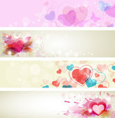 Romantic valentine banners — Stock Vector