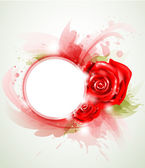 Red abstract rose — Stock Vector