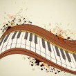 Piano and notes — Imagen vectorial