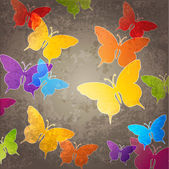 Abstract background with butterfly — Vector de stock