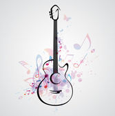 Stylized guitar — Stock Vector