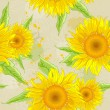 Sunflowers background — Stock Vector