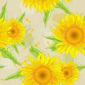 Sunflowers background — Stock Vector