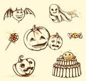 Vintage Halloween elements — Stock Vector