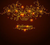 Hand drawn Halloween background — Stock Vector