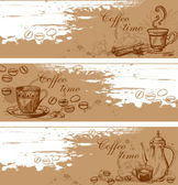 Coffee backgrounds — Stock Vector