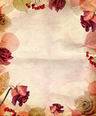 Vintage background with roses — Stock Photo
