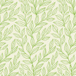 Seamless pattern with green leaves — Stock Vector #34267325