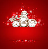 Background with Santa Claus — Stock Vector