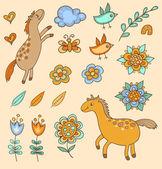 Set of doodle design elements — Vecteur